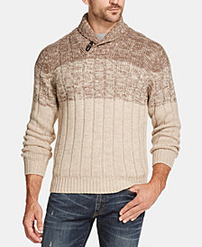 Weatherproof Vintage Men's Ombré Shawl-Neck Sweater