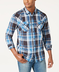 Levi's® Men's Flannel Twill Plaid Shirt, Created for Macy's