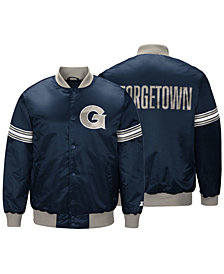 G-III Sports Men's Georgetown Hoyas Draft Pick Varsity Satin Jacket