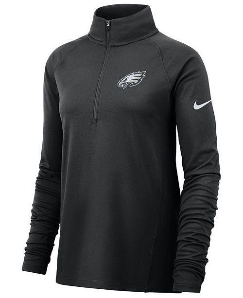 Nike Women's Philadelphia Eagles Half-Zip Core Element Pullover
