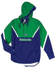 Mitchell & Ness Men's Seattle Seahawks Half-Zip Anorak Jacket