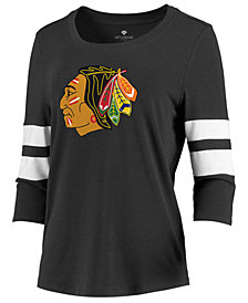 Majestic Women's Chicago Blackhawks Let Loose Raglan T-Shirt