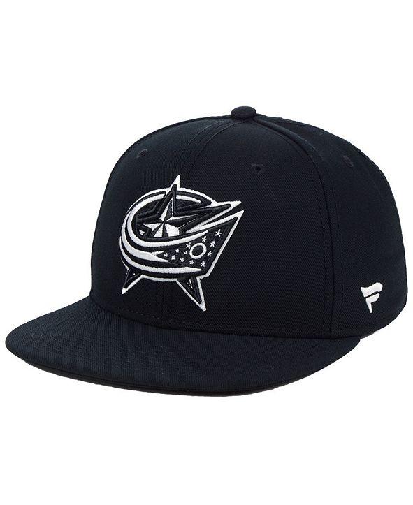 Authentic NHL Headwear NHL Authentic Headwear Columbus Blue Jackets Black DUB Fitted Cap