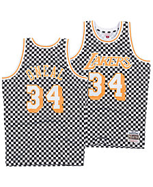 Mitchell & Ness Men's Shaquille O'Neal Los Angeles Lakers Checkerboard Swingman Jersey