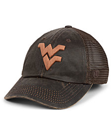 Top of the World West Virginia Mountaineers Chestnut Waxed Adjustable Strapback Cap
