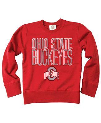 Wes Willy Ohio State Buckeyes Crewneck Sweatshirt Big Boys 8 20