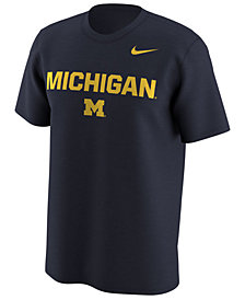 Nike Men's Michigan Wolverines Legend Logo Lockup T-Shirt