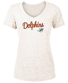 Women's Miami Dolphins Script Tri-Blend T-Shirt