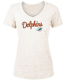5th & Ocean Women's Miami Dolphins Script Tri-Blend T-Shirt