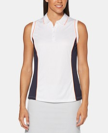 Hourglass Colorblocked Sleeveless Golf Polo