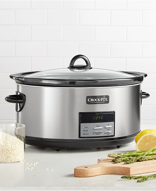Crock-Pot Stainless Collection 8-Qt. Programmable Slow Cooker