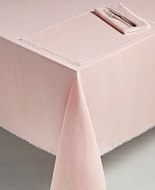 "French Perle Blush 60"" x 84"" Tablecloth"