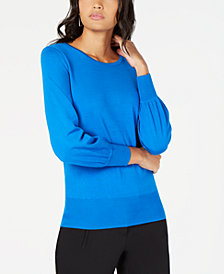 Alfani Bishop Sleeve Sweater, Created for Macy's