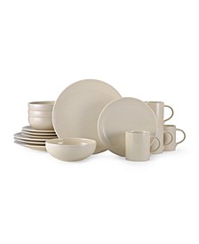 Mikasa Benson Beige 16 Piece Dinnerware Set, Service for 4