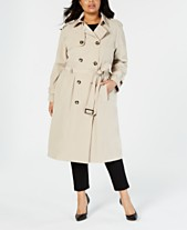 03f3a369a9e London Fog Plus Size Double-Breasted Trench Coat