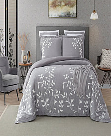 Laurel Park Autumn Chain Emb Cotton King Comforter Set
