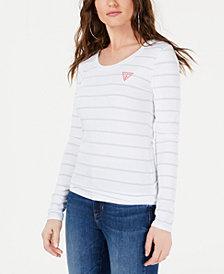 GUESS ORIGINALS Striped Long-Sleeve T-Shirt