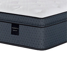 "MacyBed Lux Belvedere 15.5"" Luxury Plush Euro Top Hybrid Mattress Set - King, Created for Macy's with Adjustable Base"