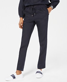 Tommy Hilfiger Linen Jogger Pants, Created for Macy's