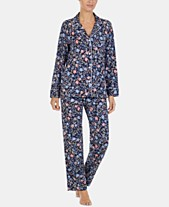 Lauren Ralph Lauren Petite Printed Cotton Notch Collar Pajama Set d54a129cac