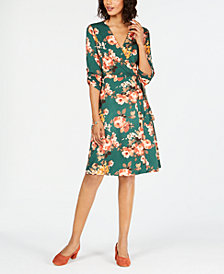 Monteau Petite Animal-Print Utility Dress
