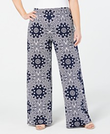 John Paul Richard Plus Size Printed Soft Pants