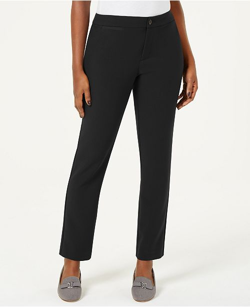 Charter Club Petite Straight-Leg Pants, Created for Macy's