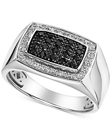 Men's Halo Cluster Ring (1/2 ct. t.w.) in 10k White Gold