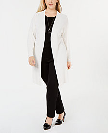 Charter Club Patterned Open-Front Cardigan, Created for Macy's