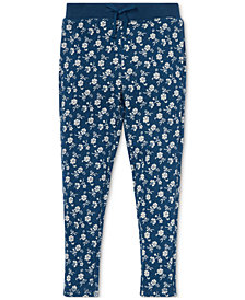 Polo Ralph Lauren Toddler Girls Floral-Print Cotton Terry Pants
