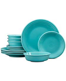Fiesta 12-Pc. Classic Dinnerware Set, Service for 4