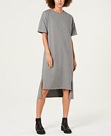 Eileen Fisher Organic Cotton Jersey High-Low T-Shirt Dress, Regular & Petite