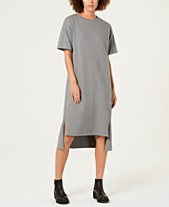 bf010195238 Eileen Fisher Organic Cotton Jersey High-Low T-Shirt Dress