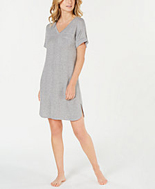 Alfani Ribbed Knit Sleepshirt, Created for Macy's