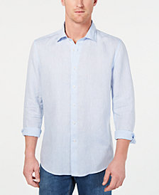 Tasso Elba Men's Billowing Cloud Long-Sleeve Linen Shirt, Created for Macy's