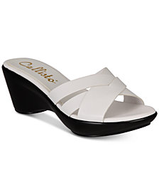 Callisto Colonel Platform Wedge Slide Sandals, Created for Macy's
