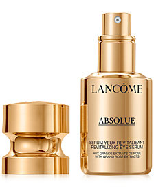 Lancôme Absolue Revitalizing Eye Serum With Grand Rose Extracts, 0.5 oz.