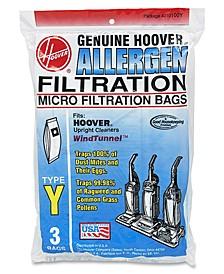 Type Y Allergen Filtration Bags, 3-Pack