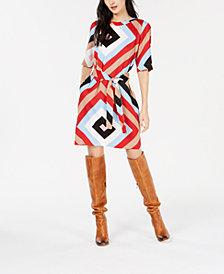 Marella Printed Belted Dress