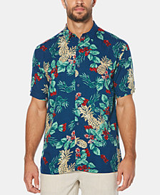 Cubavera Men's Big & Tall Pineapple Floral-Print Short-Sleeve Shirt