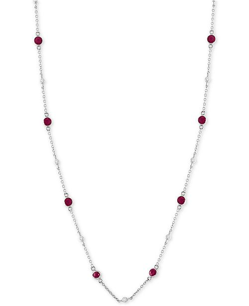 f2f1fa4285235a EFFY Collection EFFY® Certified Ruby (1-3/8 ct. t.w.) & Diamond (1/8 ...
