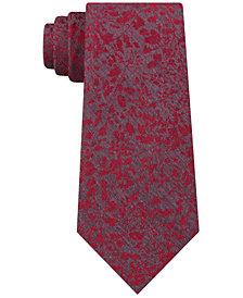 Calvin Klein Men's Molten Botanical Slim Tie