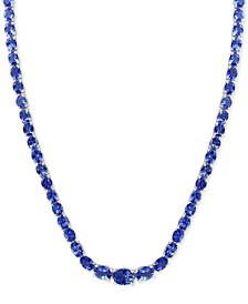 "EFFY® Tanzanite 18"" Statement Necklace (27-5/8 ct. t.w.) in Sterling Silver"