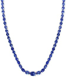 """EFFY® Tanzanite 18"""" Statement Necklace (27-5/8 ct. t.w.) in Sterling Silver"""