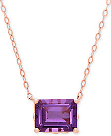 Amethyst Pendant Necklace (2-1/10 ct. t.w.) in 14k Rose Gold
