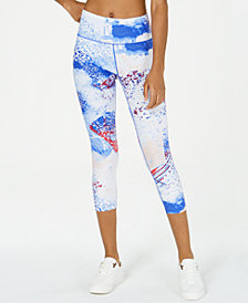 Calvin Klein Performance Printed High-Rise Cropped Leggings