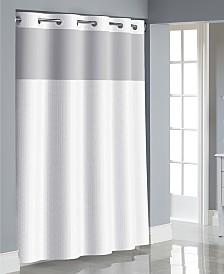 Hookless Herringbone 3-in-1 Shower Curtain