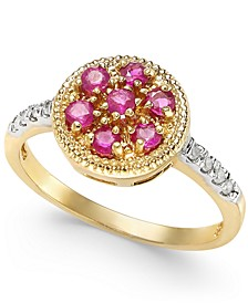 Ruby (5/8 ct. t.w.) & Diamond Accent Ring in 14k Gold