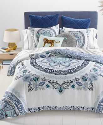 CLOSEOUT! Traveler Medallion 2-Pc. Twin/Twin XL Comforter Set, Created for Macy's