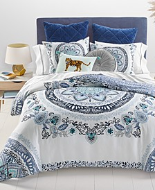 CLOSEOUT! Traveler Medallion Comforter Sets, Created for Macy's